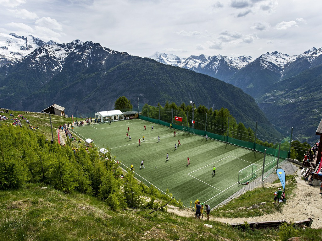 alpine football pitch